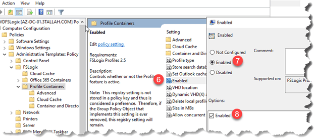 Configure Windows Virtual Desktop (WVD) to use FSLogix profile containers as a user profile storage