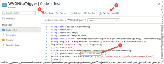 Configure Custom URL redirection for Windows Virtual Desktop - WVD